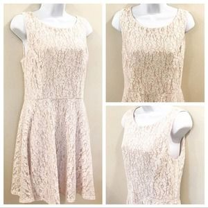Speechless | Blush Shimmer Dress Size 11
